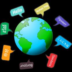 Globe with different languages | Job Recruitment Kent
