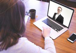 Online meeting on laptop   Permanent Work Maidstone