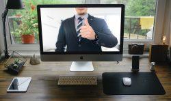 Man online giving thumbs up   Job Recruitment Kent